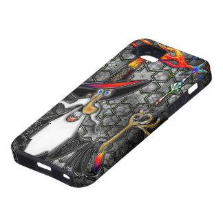 Feuer-Zauberer-Magier-Severo-Collage de Mystische iPhone 5 Carcasa