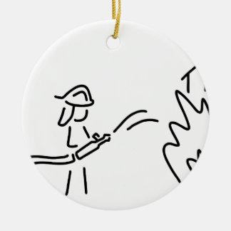 feuerwehrmann occupation fire-brigade feuerwehrfra ceramic ornament