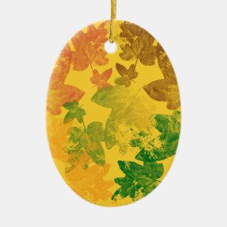 feuilles d'automne ceramic ornament