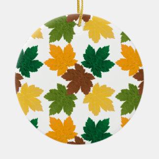 feuilles d'automne patterns ceramic ornament