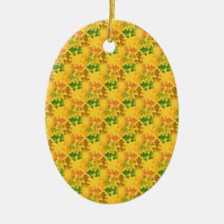 feuilles d'automnes  patterns ceramic ornament