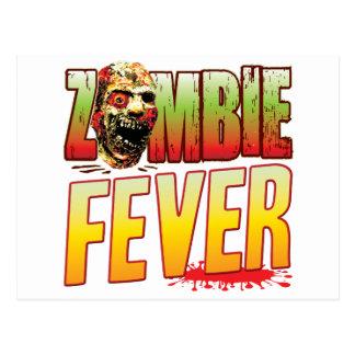 Fever Zombie Head Postcard