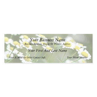 Feverfew Blossoms Business Cards