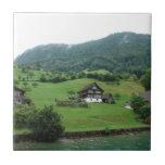 Few houses on the mountain tile