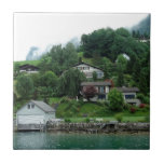 Few houses on the slope of the mountain ceramic tile