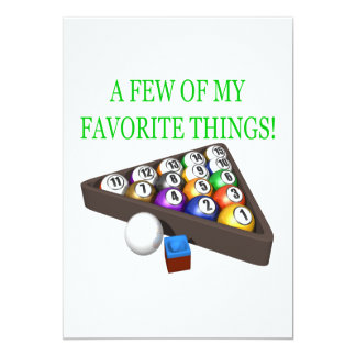 Few Of My Favorite Things Card