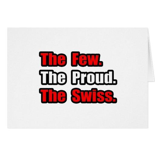 Few Proud Swiss Greeting Cards