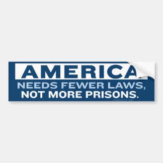 Fewer Laws Bumper Sticker Car Bumper Sticker