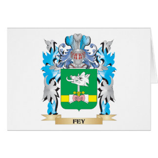 Fey Coat of Arms - Family Crest Stationery Note Card