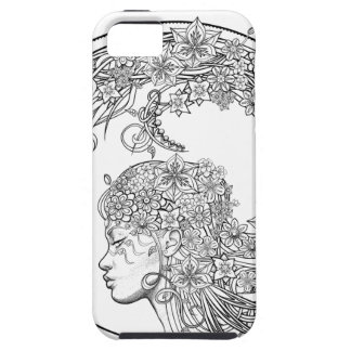 Fey Flower (wrapped around) by Sonja A.S. iPhone SE/5/5s Case