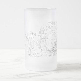 Fey Frosted Glass Mug