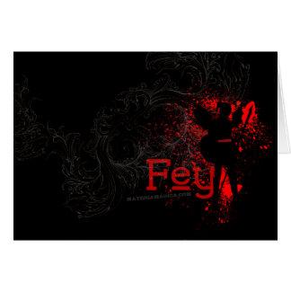 Fey Greeting Card