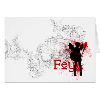 Fey - Greeting Card