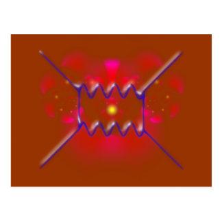 feynman diagram diagram postcard