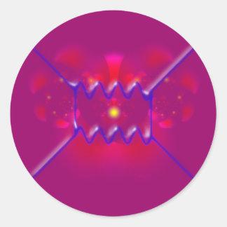 feynman diagram diagramm pegatina redonda