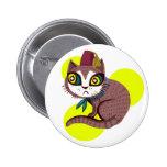 Fez Kitty Button