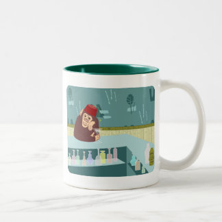 Fez Monkey Martini Bar Two-Tone Coffee Mug