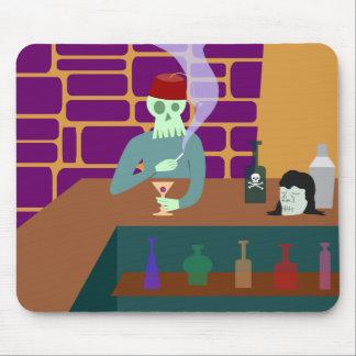 Fez Skull Martini Bar Mouse Pad