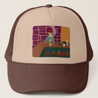 Fez Skull Martini Bar Trucker Hat