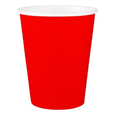 Professional Business #FF0000 Hex Code Web Color Rich Bright Red Paper Cup