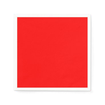 Professional Business #FF0000 Hex Code Web Color Rich Bright Red Paper Napkin