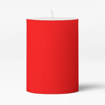Professional Business #FF0000 Hex Code Web Color Rich Bright Red Pillar Candle