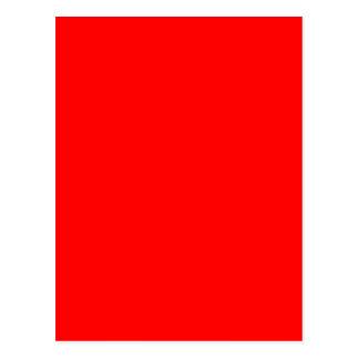 #FF0000 Hex Code Web Color Rich Bright Red Postcard