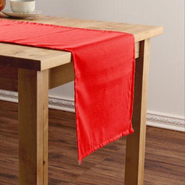Professional Business #FF0000 Hex Code Web Color Rich Bright Red Short Table Runner