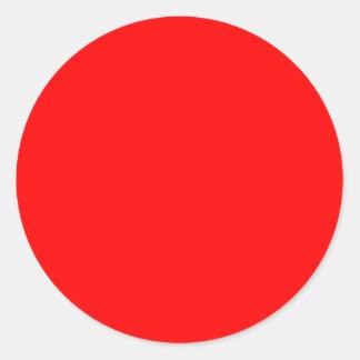 FF0000 Red Classic Round Sticker