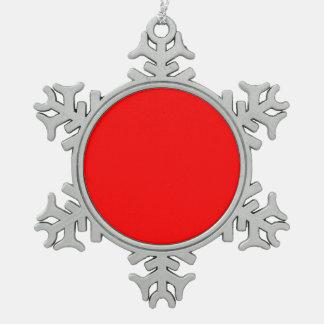 Ff0000 rojo adorno de peltre en forma de copo de nieve