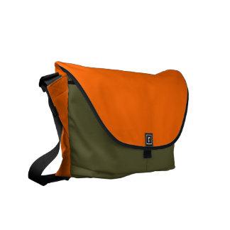 FF6600 Solid Color Orange Background Template Courier Bag