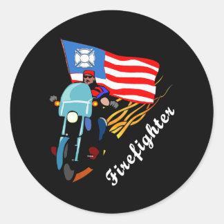 FF Bikers Classic Round Sticker