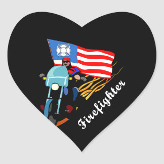FF Bikers Heart Sticker