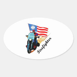 FF Bikers Oval Sticker
