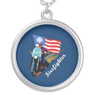 FF Bikers Round Pendant Necklace
