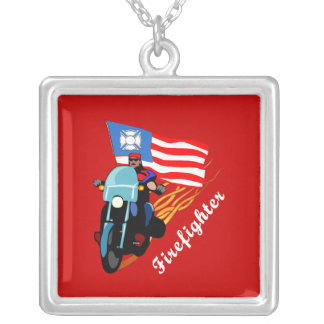 FF Bikers Silver Plated Necklace