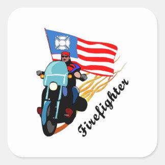 FF Bikers Square Sticker