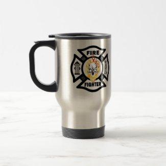 FF Flaming Skull mug