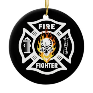 FF Flaming Skull ornament