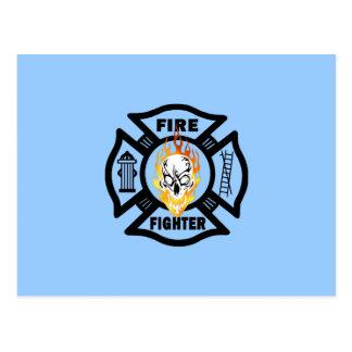 FF Flaming Skull Postcard