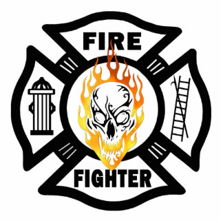 FF Flaming Skull Statuette