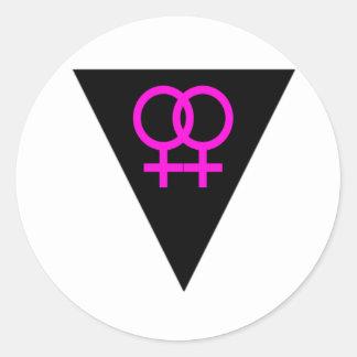 FF triangle Classic Round Sticker