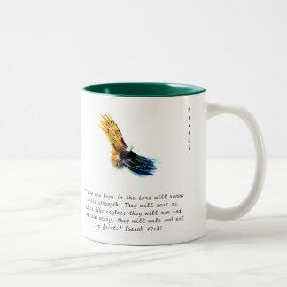 FFAPOV Isaiah 40:31 Eagle Mug (left-handed)