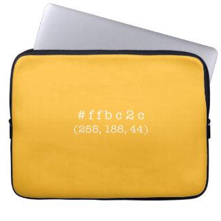 #ffbc2c 13' Laptop Sleeve (White text)