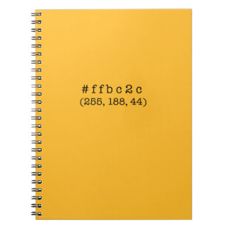 #ffbc2c Notebook, 80 Pages Spiral Notebook