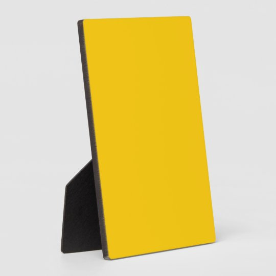 FFCC00 Gold Plaque