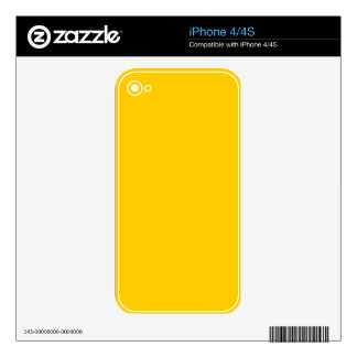 #FFCC00 Hex Code Web Color Yellow Decal For The iPhone 4S
