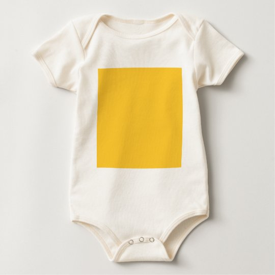 FFCC33 Solid Yellow Background Color Baby Bodysuit