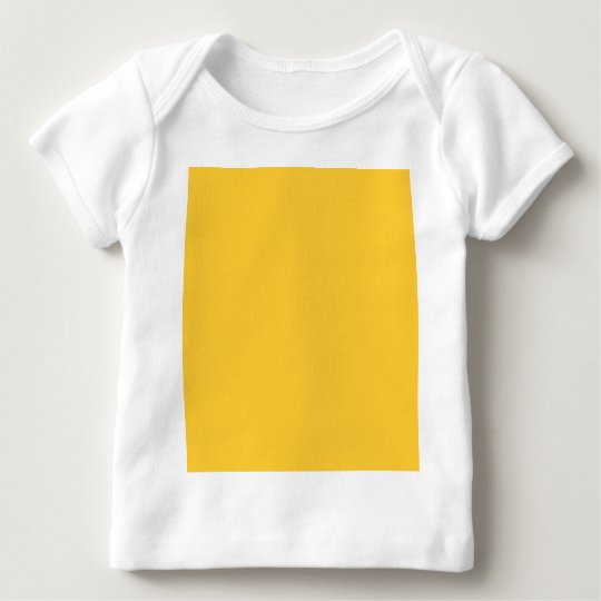 FFCC33 Solid Yellow Background Color Baby T-Shirt