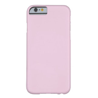 FFCCFF palidecen color sólido de la lavanda rosada Funda De iPhone 6 Barely There